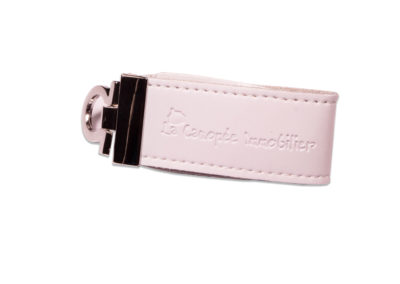White Leather USB flash drive 351