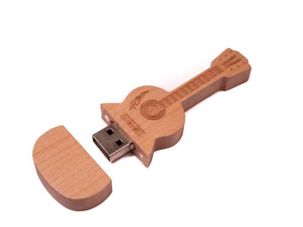 Wood Guitar Shape usb