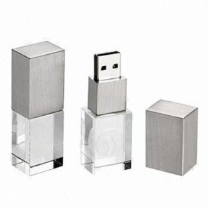 Crystal & metal USB silver