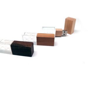 Crystal & wood USB drives