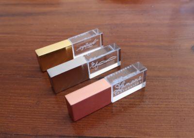 Crystal USB drives for photographers