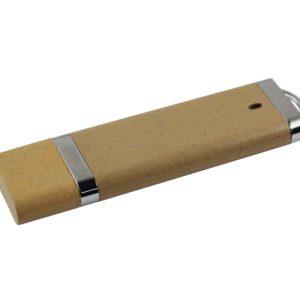 Wheat straw slimline USB with logo